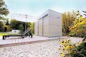 Garten Kubus - Modernes Pool Gartenhaus