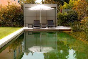 Garten Kubus - Pool Haus