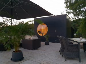 Garten Kubus - Poolhaus mit Küche