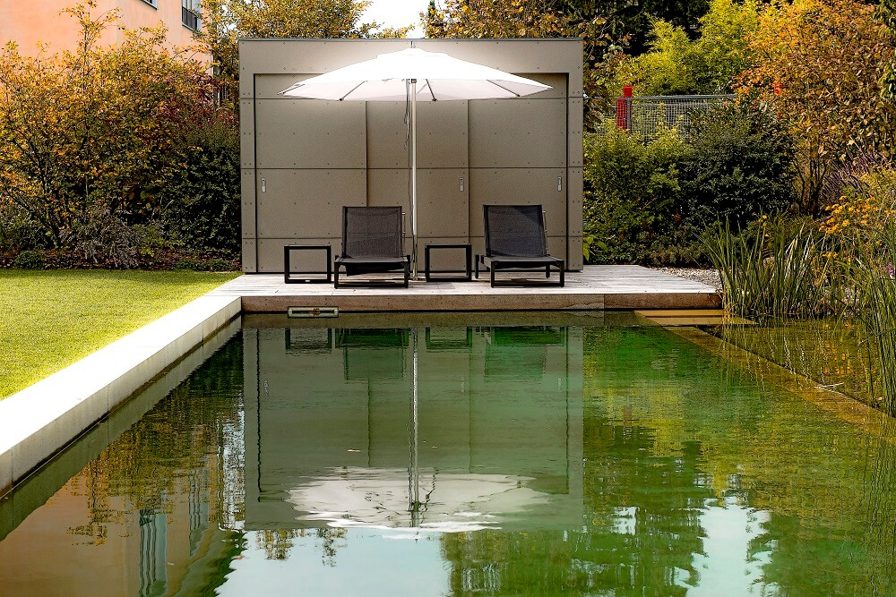 Garten Kubus III Poolhouse