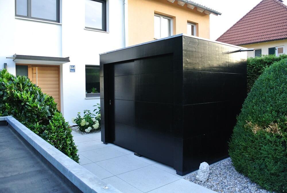Garten Kubus III tiny house mit Mülltonnenhaus