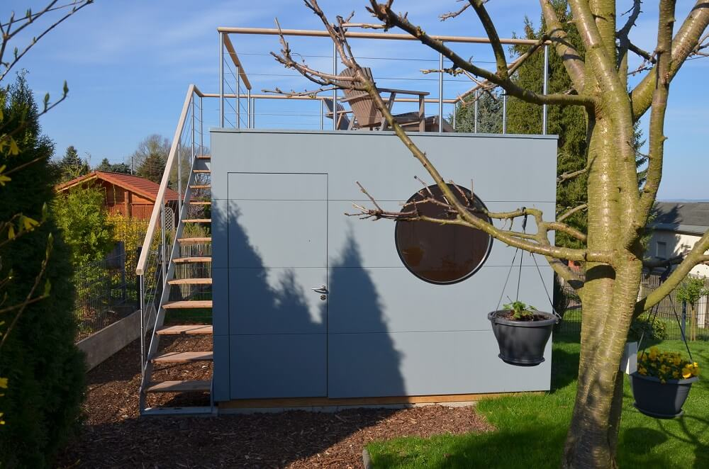 Garten Kubus III tiny house mit Dachterrasse