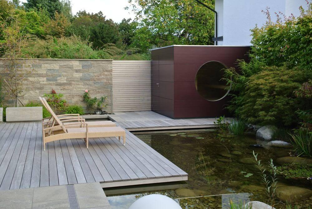 Garten Kubus moderne outdoor Sauna