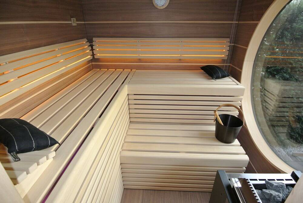 Garten Kubus design outdoor Sauna