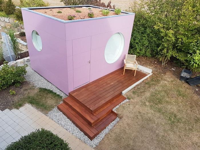 HOME OFFICE im Garten