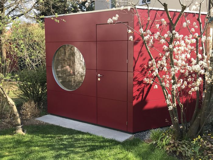 Garten Kubus Sauna