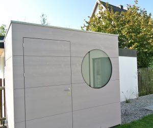 Design Gartenhaus für Pooltechnik