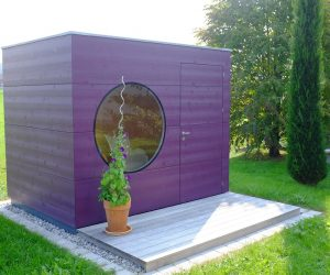 Design Gartenhaus mit Terrasse
