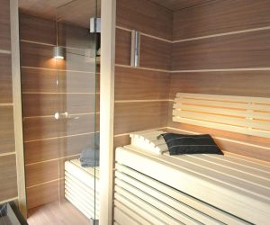 Garten Kubus Sauna Projekt 1