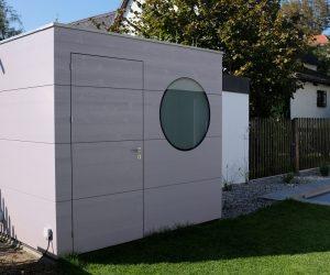 Gartenhaus für Schwimmbadtechnik