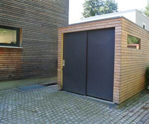 Gartenhaus mit Fassade in FUNDERMAX HPL