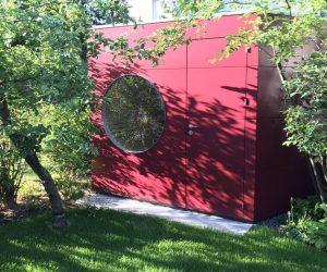 Garten Kubus Designer Sauna