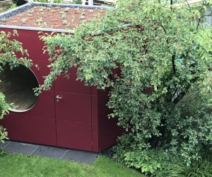 Garten Kubus Sauna im Garten