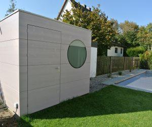 Haus für Pooltechnik