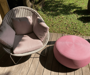 Sessel NIDO, ROPE SHADE OF WHITE PAOLA LENTI