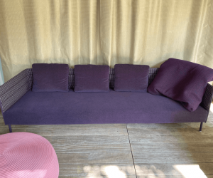 Sofa FRAME ON, Stoff ROPE TRECCIA 95 + LUZ. PAOLA LENTIjpg